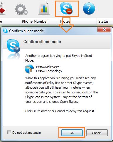 sending skype request